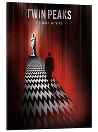 Vetro acrilico  Twin peaks illustration retro tv serie inspired art print - Golden Planet Prints