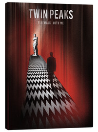 Stampa su tela  Twin peaks illustration retro tv serie inspired art print - Golden Planet Prints