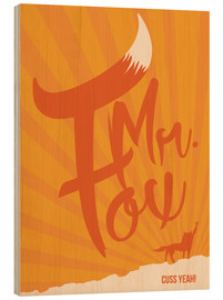 Stampa su legno  Fantastic Mr. Fox - Golden Planet Prints