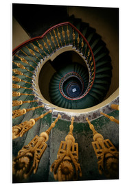 Forex  Ornamented spiral staircase in green and yellow - Jaroslaw Blaminsky