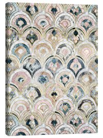 Stampa su tela  Art Deco Marble Tiles in Soft Pastels - Micklyn Le Feuvre