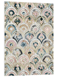 Stampa su PVC  Art Deco Marble Tiles in Soft Pastels - Micklyn Le Feuvre