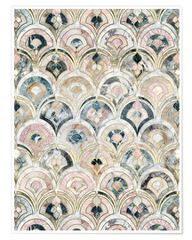 Poster  Art Deco Marble Tiles in Soft Pastels - Micklyn Le Feuvre