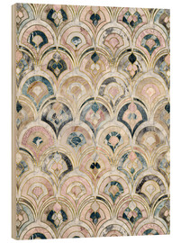 Stampa su legno  Art Deco Marble Tiles in Soft Pastels - Micklyn Le Feuvre
