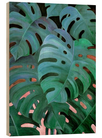 Legno  Monstera Love in Teal and Emerald Green - Micklyn Le Feuvre