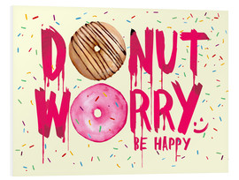 Forex  Donut worry be happy sweet art - Nory Glory Prints