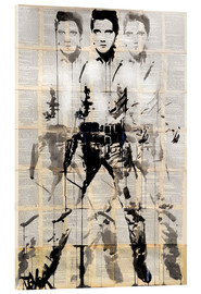 Vetro acrilico  Elvis after Andy - Loui Jover