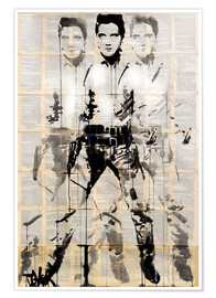 Poster  Elvis after Andy - Loui Jover