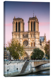 Tela  Notre Dame cathedral at sunset, Paris, France - Matteo Colombo