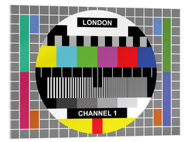 Stampa su vetro acrilico  London TV channel 1 - Jaysanstudio
