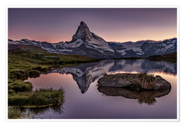 Poster Premium  Sunset at Matterhorn - Achim Thomae