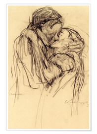Poster  The kiss - Käthe Kollwitz