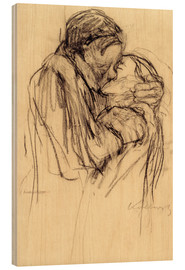 Legno  The kiss - Käthe Kollwitz