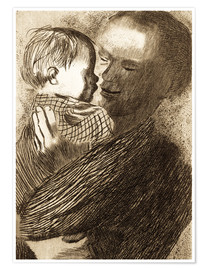 Poster Premium Mother with Child in her arms