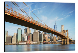 Alluminio Dibond  Brooklyn bridge and Manhattan skyline at sunrise, New York city, USA - Matteo Colombo