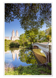 Poster Premium  Famous bow bridge in Central Park, New York city, USA - Matteo Colombo