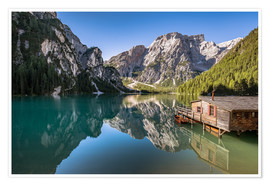 Poster Premium Braies Lake, Dolomites, South Tyrol