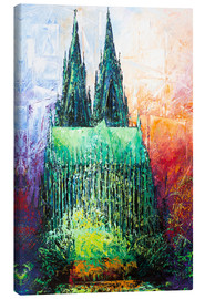 Stampa su tela  Cologne Cathedral Abstract - Renate Berghaus