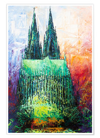 Poster Premium  Cologne Cathedral Abstract - Renate Berghaus