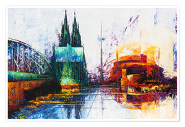 Poster Premium  Cologne Cathedral Skyline - Renate Berghaus