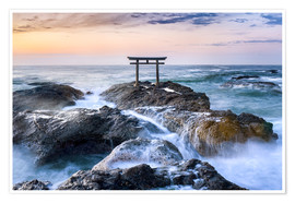 Poster Japanese Torii in the sea, Japan