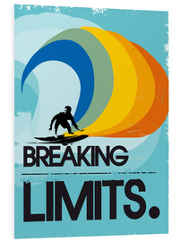 Forex  Retro Surfer Design breaking limits art print - 2ToastDesign