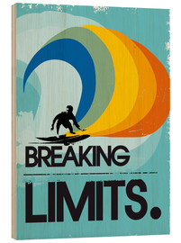 Legno  Retro Surfer Design breaking limits art print - 2ToastDesign