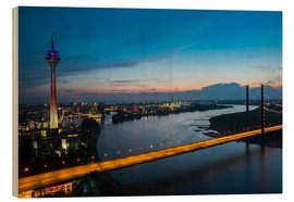 Stampa su legno  Dusseldorf Skyline at night - rclassen
