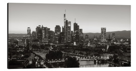 Alluminio Dibond  Frankfurt skyline black and white - rclassen