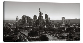 Tela  Frankfurt skyline black and white - rclassen