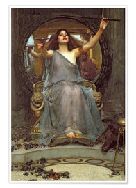 Poster Premium  Circe offre la coppa a Ulisse - John William Waterhouse