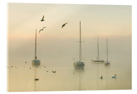 Vetro acrilico  A misty morning over Lake Windermere Lake District