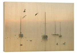 A misty morning over Lake Windermere Lake District