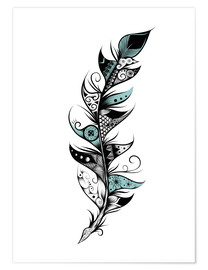 Poster Premium  Poetic Feather - LouJah