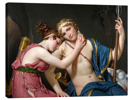Stampa su tela  Addio a Telemaco ed Eucarestia - Jacques-Louis David