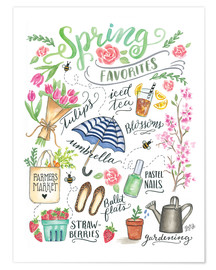 Poster  Spring Favourites - Lily & Val