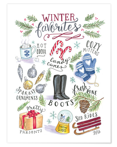Poster Winter Favorites