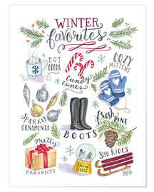 Poster  Winter Favorites - Lily & Val