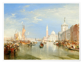 Poster  Venice: The Dogana and San Giorgio Maggiore - Joseph Mallord William Turner