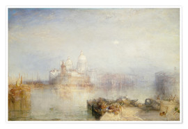 Poster  The Dogana and Santa Maria della Salute - Joseph Mallord William Turner