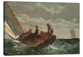 Stampa su tela  Breezing Up (A Fair Wind) - Winslow Homer
