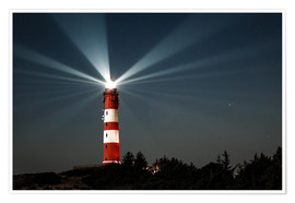 Poster Premium  Lighthouse night on Amrum - Oliver Henze