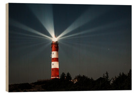 Stampa su legno  Lighthouse night on Amrum - Oliver Henze