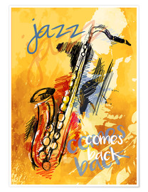 Poster  jazz comes back - colosseum