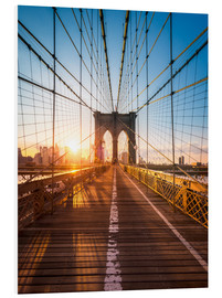 Forex  Brooklyn Bridge in the sunlight in New York City, USA - Jan Christopher Becke