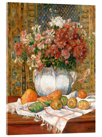 Vetro acrilico  Still Life with Flowers and Prickly Pears - Pierre-Auguste Renoir