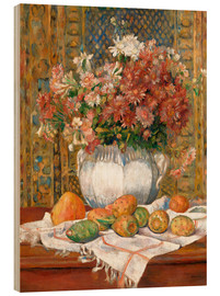 Stampa su legno  Still Life with Flowers and Prickly Pears - Pierre-Auguste Renoir