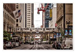 Poster Premium Chicago Street View