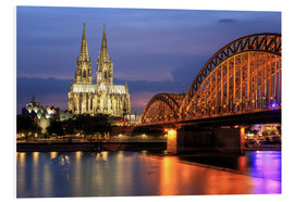 Stampa su PVC  Cologne Cathedral and Hohenzollern Bridge at night - Oliver Henze
