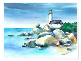Poster Premium Lighthouse Pontusval